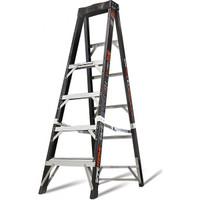 Little Giant 15776-001 6' Safe Frame Fiberglass Fixed Height Stepladder Type IA 375 lb Rating