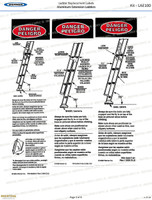 Werner LAE100 Safety Labels - Aluminum Extension Ladders