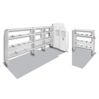 WeatherGuard Model 600-8410X Commercial Shelving Van Package, High-Roof, Ford Transit, 170 XWB