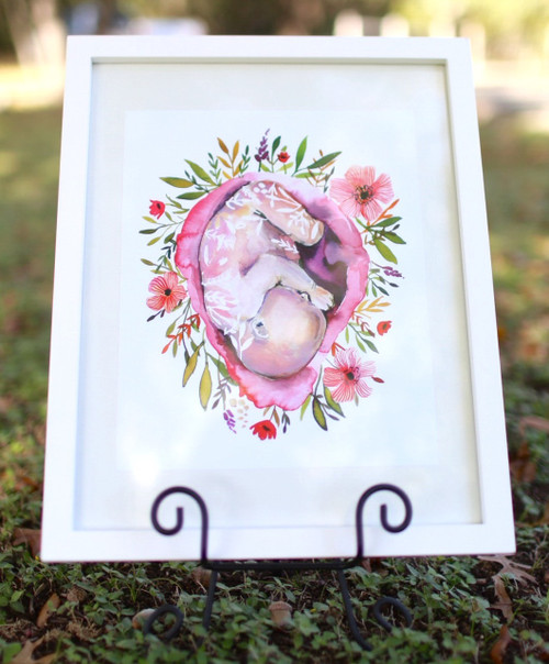 Floral Womb Print