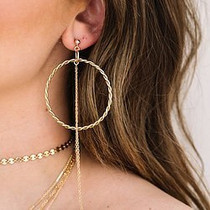 Lasso Gold Earrings
