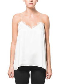 Cami NYC The Racer Charmeuse White
