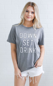 Charlie Southern Down Set Drink Grey T-Shirt