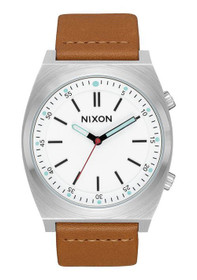 NIXON Brigade Leather 40mm Taupe Watch
