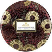Voluspa Goji Tarocco Orange 3 Wick Tin Candle