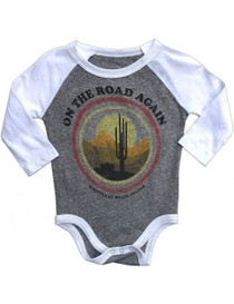 On The Road Again Infant Grey Onesie