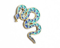 Blue Snake Enamel Pin