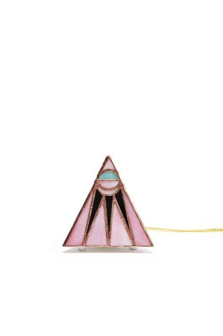 Friend Of All Glass Pink Moon Small Pyramid