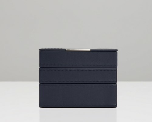 Wolf Navy Mini Stackable Tray Set