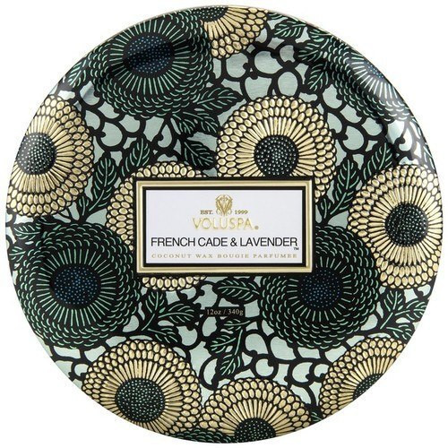 Voluspa French Cade Lavender 3 Wick Tin Candle