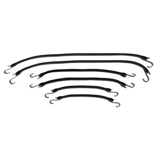 """6 piece Rubber Tarp Straps Kit-Includes 2 each of 15"""", 21"""" and 31"""""""