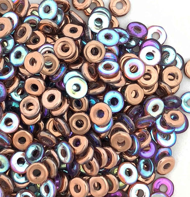 O Beads, Crystal Copper Rainbow (10 gr.)