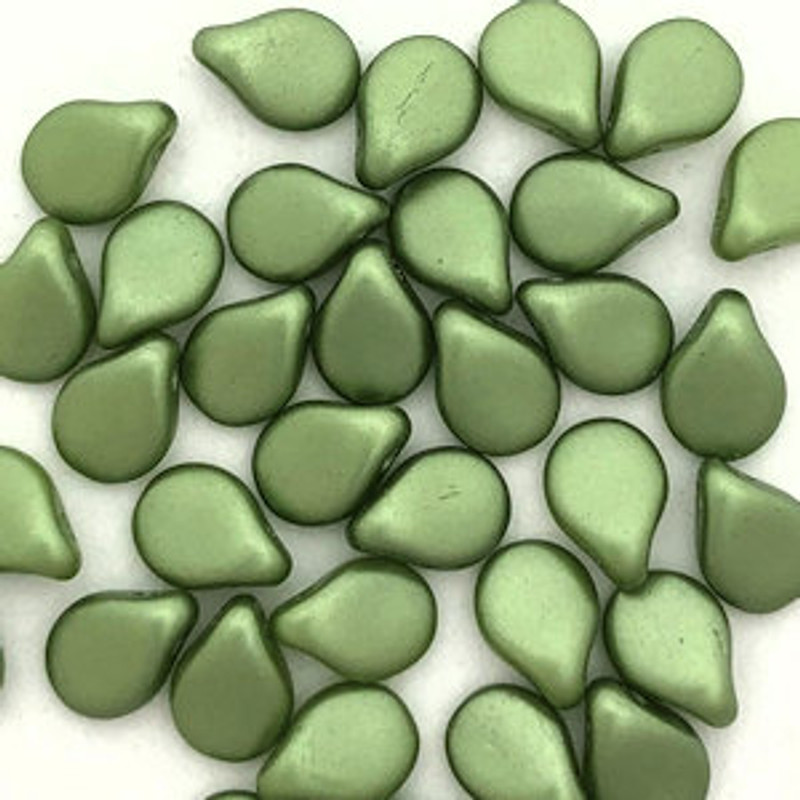 Pip Beads, Olivine (Qty. 35)