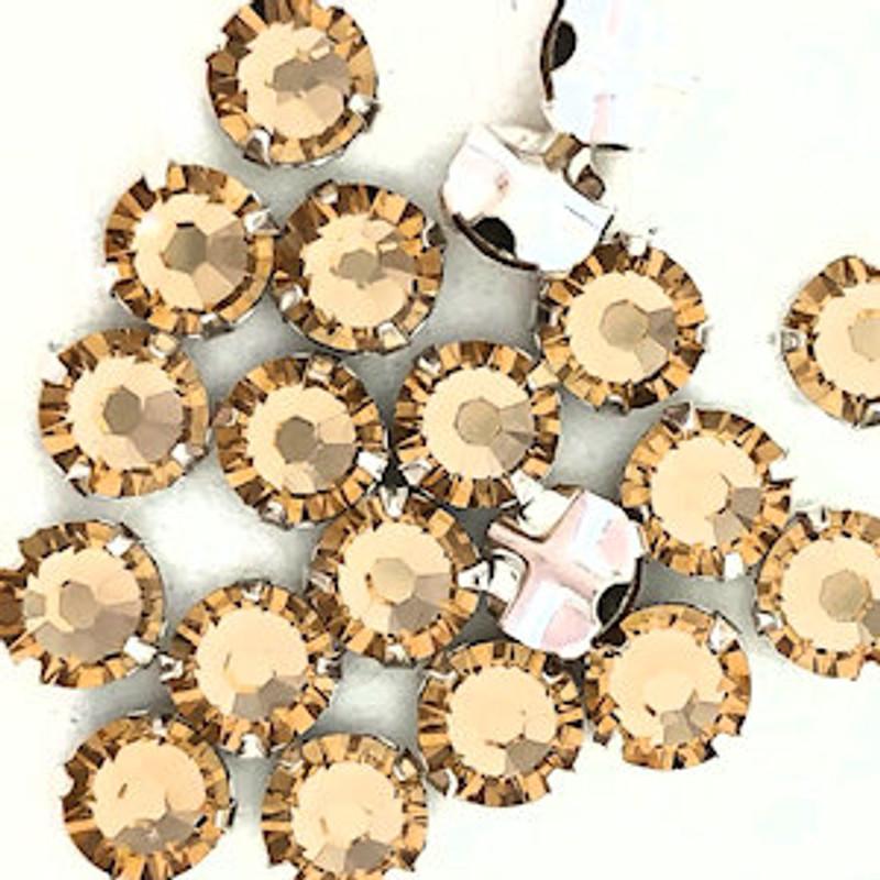 30ss Swarovski Rose Montees - Light Colorado Topaz (Qty: 20)