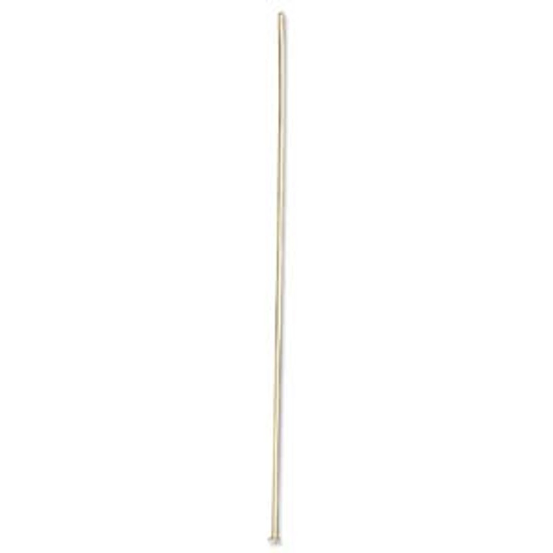 Headpin, 3 inch, 21 GA, Gold Plated (Qty: 10)