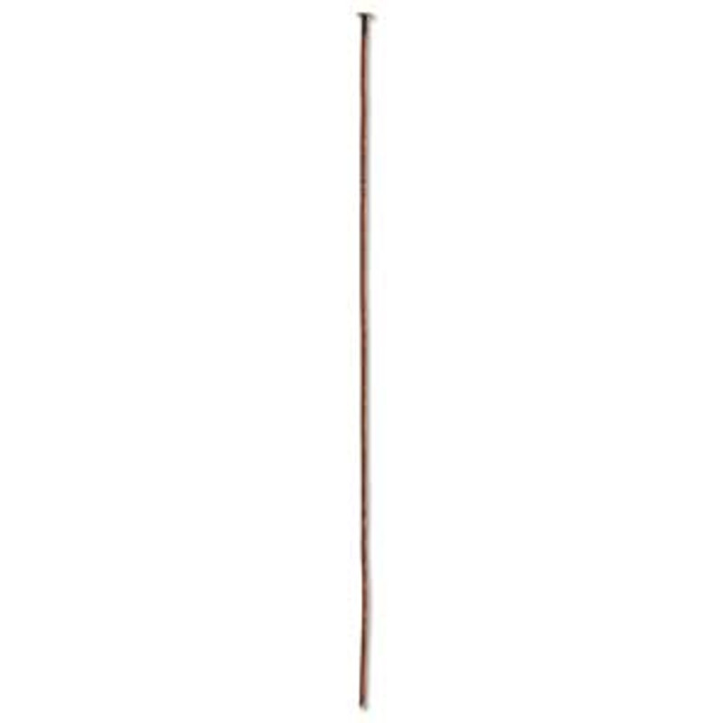 Headpin, 3 inch, 21 GA, Antique Copper Plated (Qty: 10)