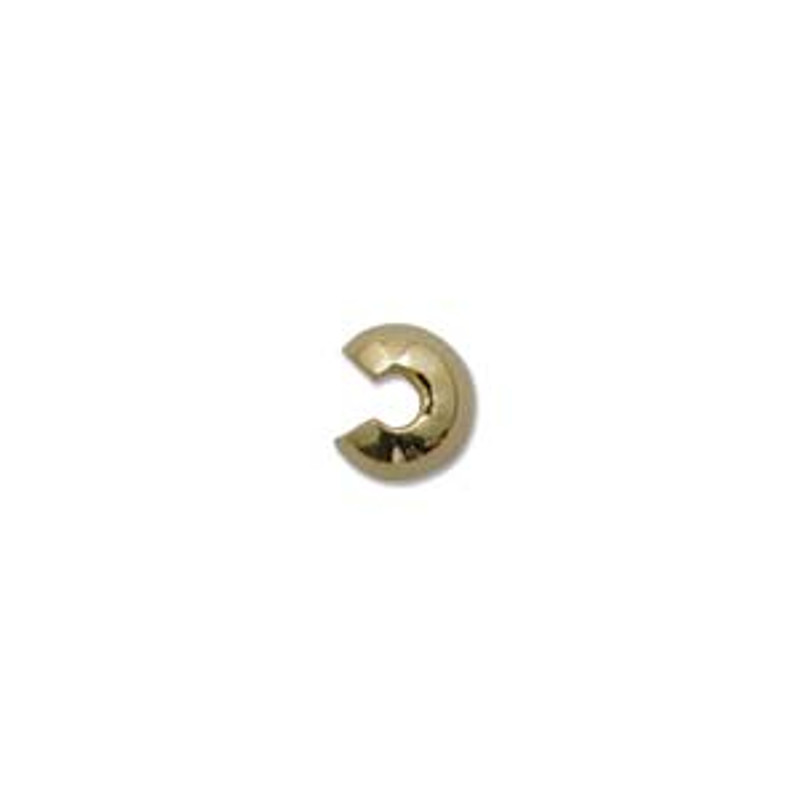 Crimp Bead Cover,  Gold Filled, 4mm (Qty: 2)