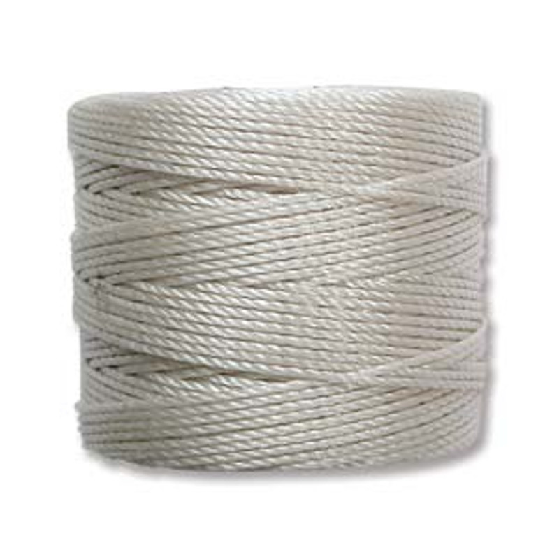 S-Lon Bead Cord, Cream (TEX 210, Medium Weight) (77 yd)