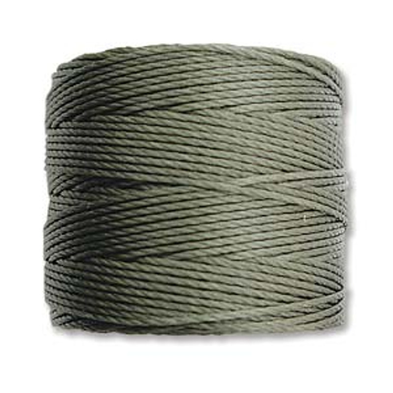 S-Lon Bead Cord, Olive (TEX 210, Medium Weight) (77 yd)