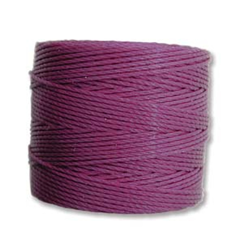 S-Lon Bead Cord, Plum (TEX 210, Medium Weight) (77 yd)