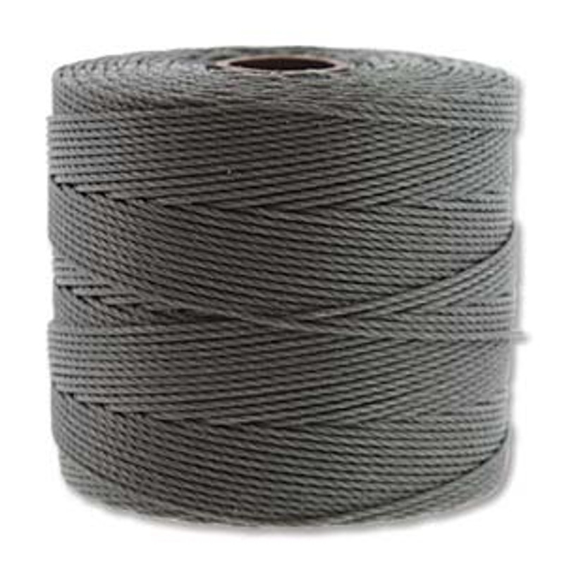 S-Lon Bead Cord, Grey (TEX 135, Fine Weight) (118 yd)