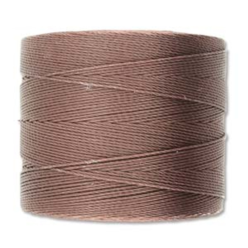 S-Lon Bead Cord, Brown  (TEX 70, Micro Weight) (262 yd)