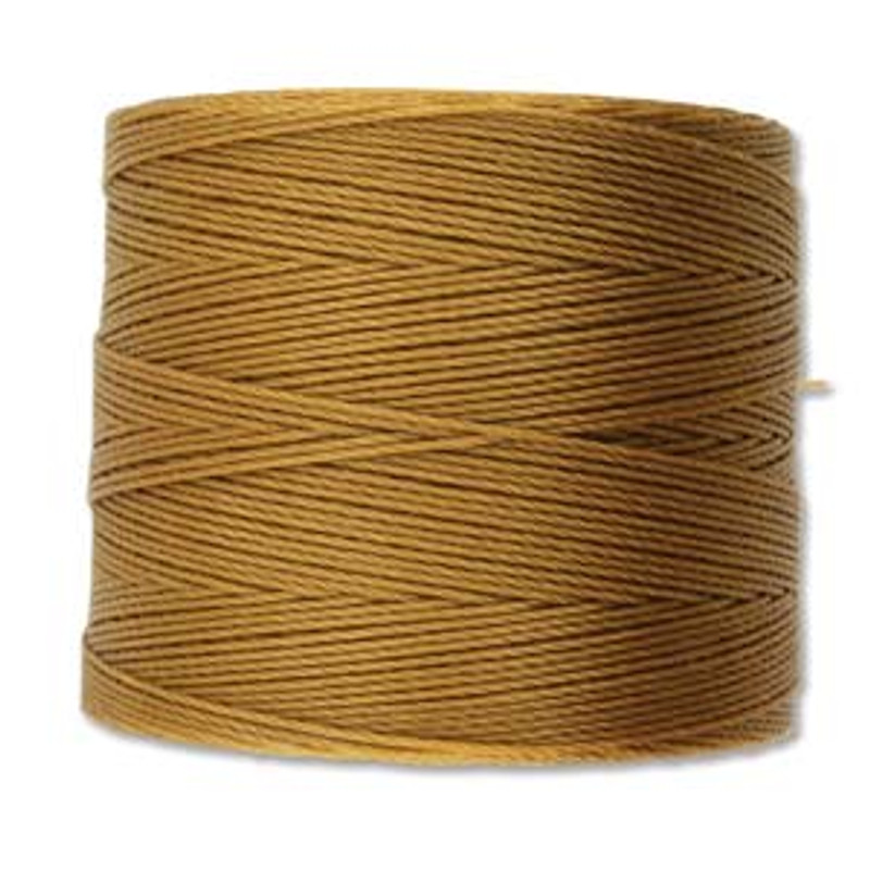 S-Lon Bead Cord, Gold  (TEX 70, Micro Weight) (262 yd)