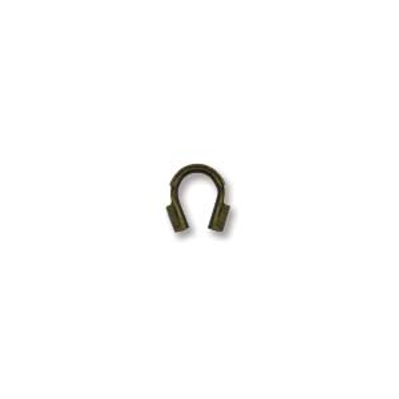 Wire Guard, Antique Brass Plate, 4mm (Qty: 20)