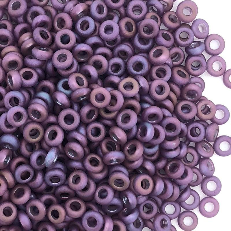 Size 11 Demi Rounds, 0625F, Raspberry Matte Luster (Toho) (10 gr.)