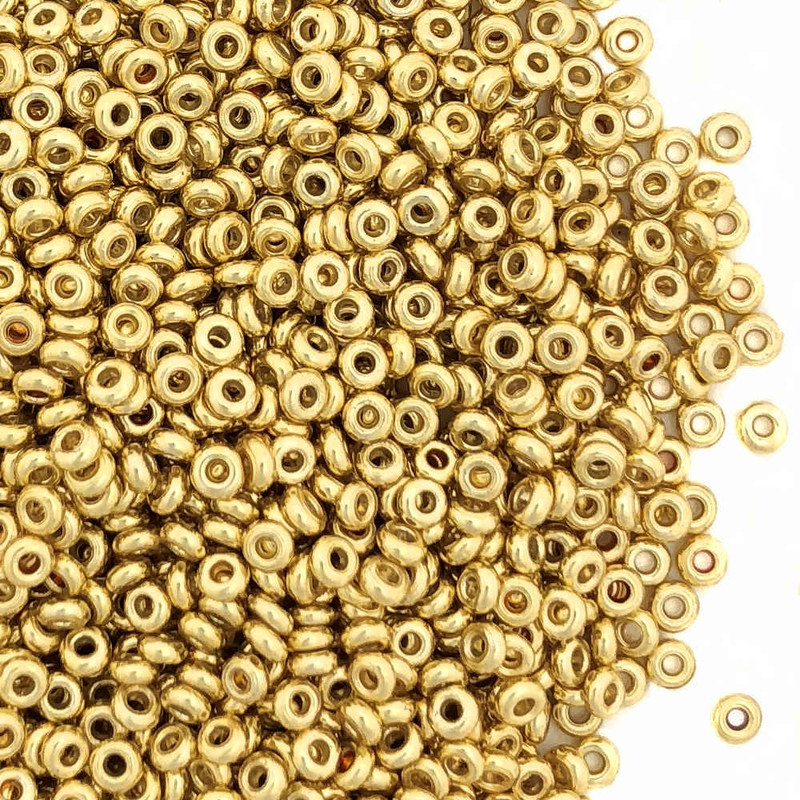 Size 11 Demi Rounds, P0471, PermaFinish Gold (Toho) (10 gr.)