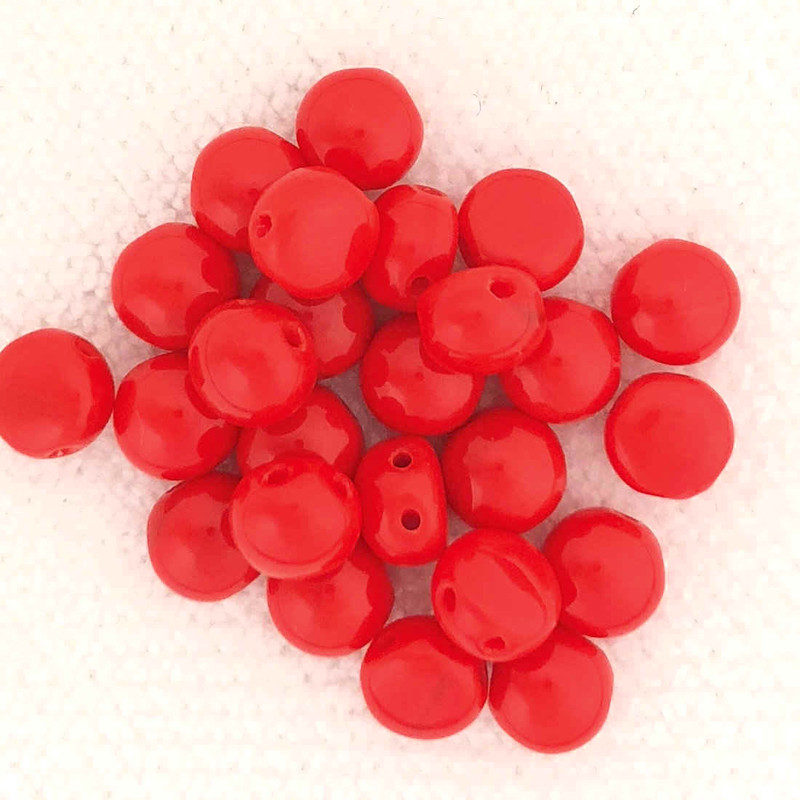 6mm Candy Beads, Red (Qty: 25) (CAN-040)