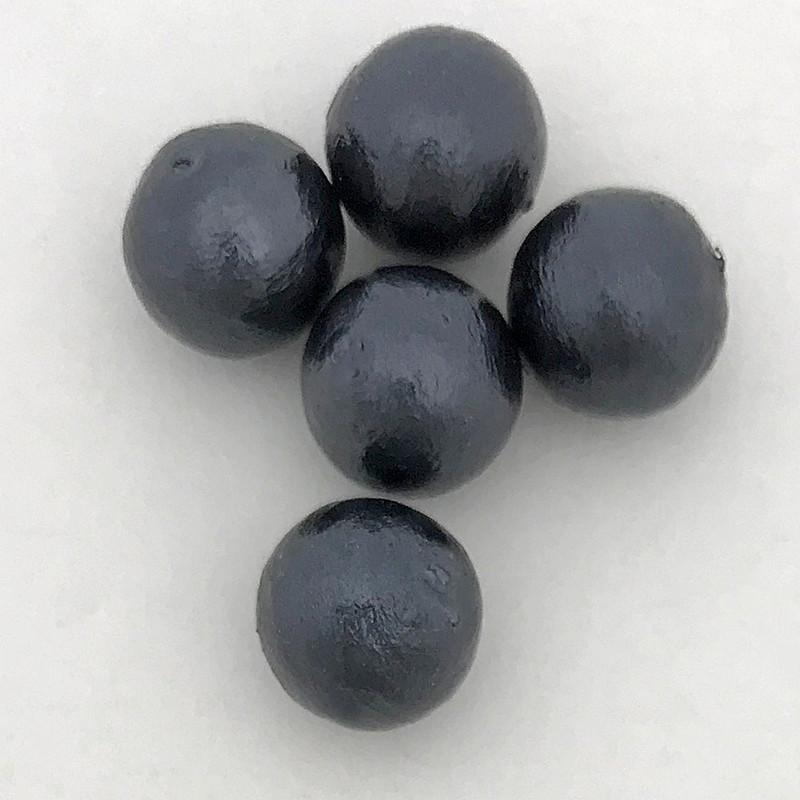 Miyuki Cotton Pearls, Black (10mm) (Qty: 5)