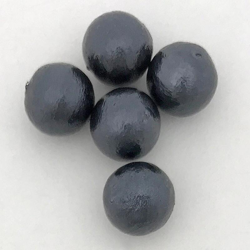 Miyuki Cotton Pearls, Black (12mm) (Qty: 5)
