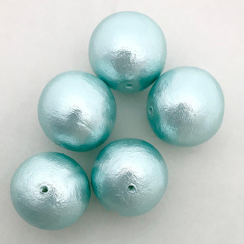 Miyuki Cotton Pearls, Aqua (20mm) (Qty: 1)