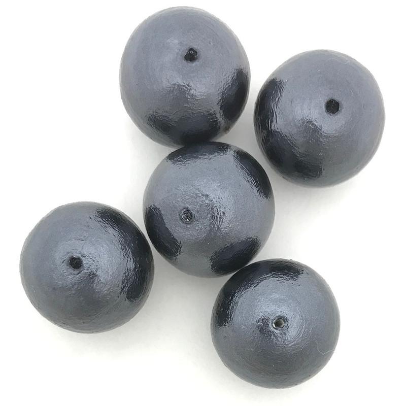 Miyuki Cotton Pearls, Black (20mm) (Qty: 1)