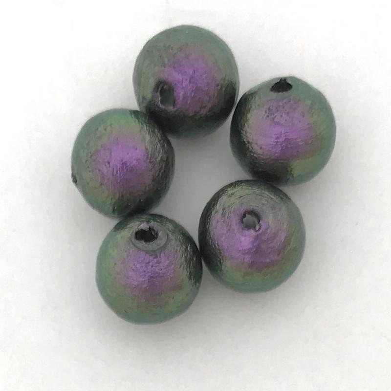 Miyuki Cotton Pearls, Rich Green Black (8mm) (Qty: 5)