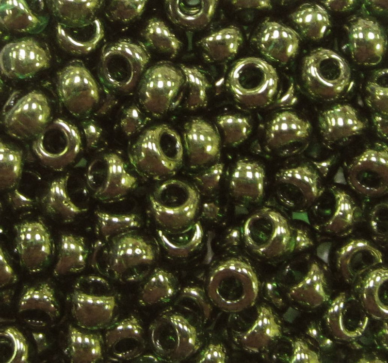 6-0306, Olive Green Gold Luster