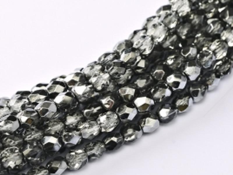 4mm Fire Polish, Earthtone Metallic Ice (Qty: 50)