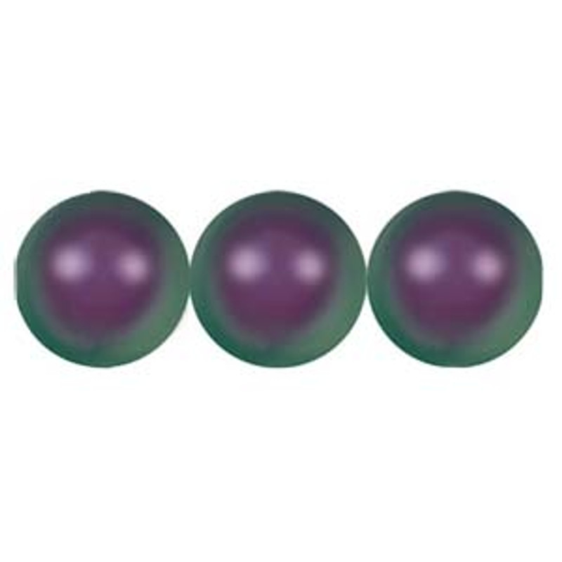 4mm Swarovski Pearls, Iridescent Purple (Qty: 50)
