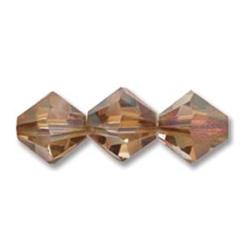 3mm Swarovski Bicones, Crystal Copper (Qty: 50)