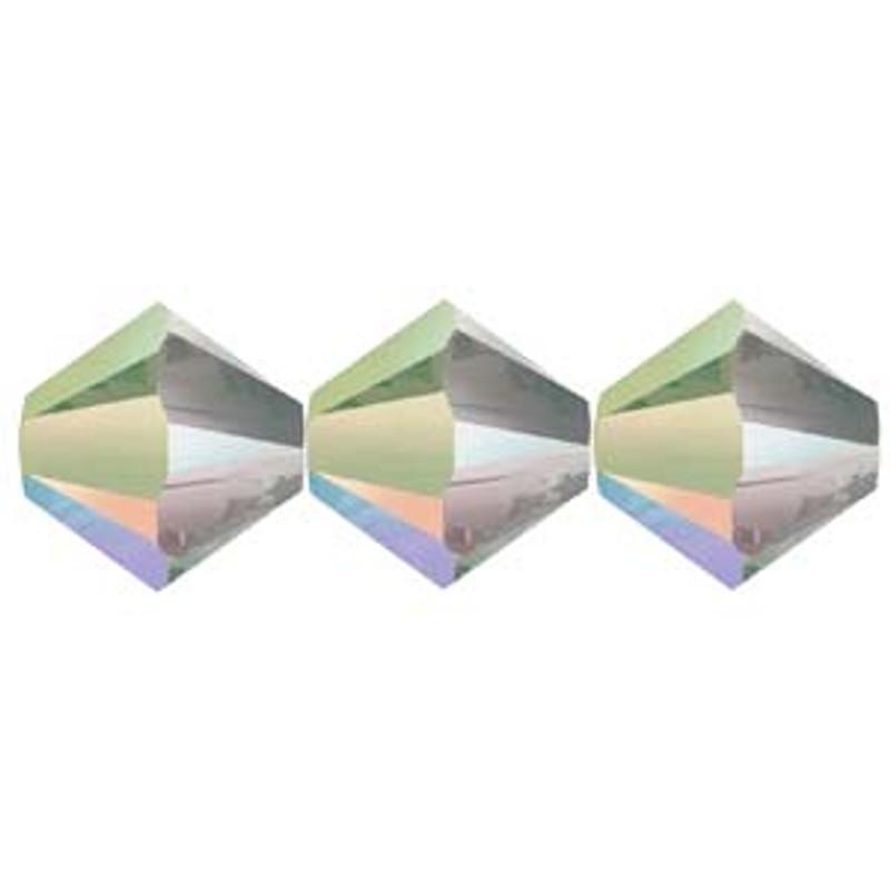 3mm Swarovski Bicones, Crystal Paradise Shine (Qty: 50)