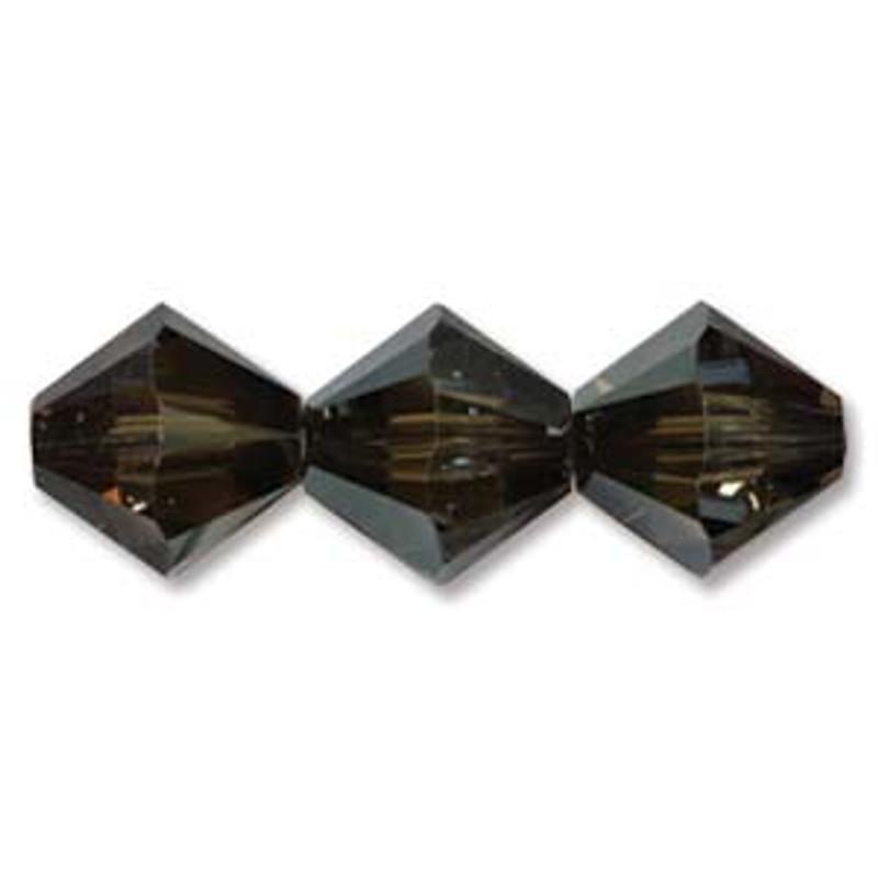 3mm Swarovski Bicones, Crystal Bronze Shade (Qty: 50)