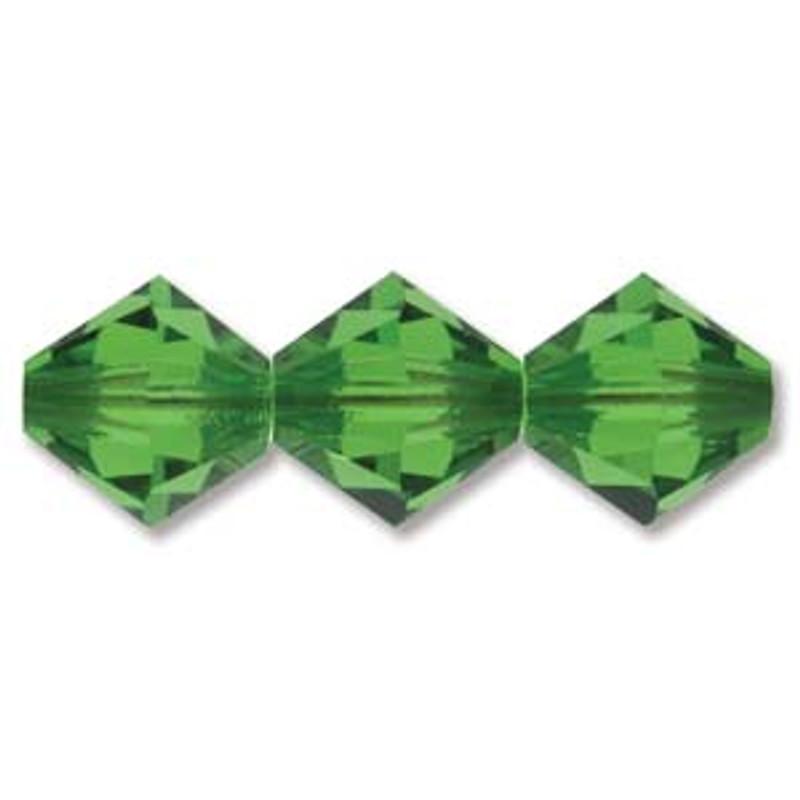 3mm Swarovski Bicones, Fern Green (Qty: 50)