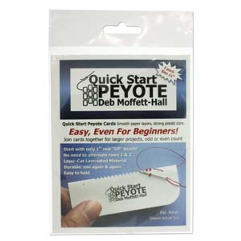 Quick Start Peyote Card for Size 11 Cylinder and Seed Beads