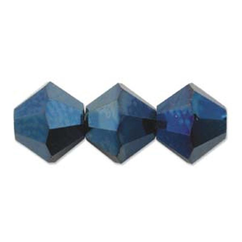3mm Swarovski Bicones, Crystal Metallic Blue 2X (28 gr.)