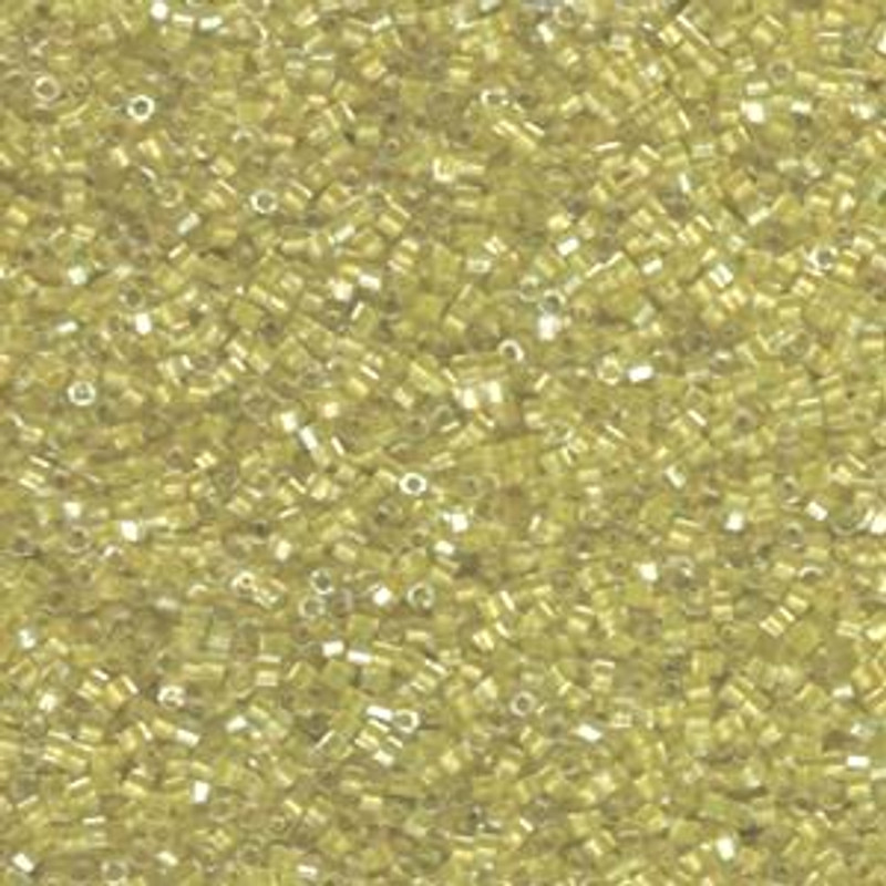 11-DBC-0910, Sparkling Yellow Green-Lined Crystal (Hex) (10 gr.)