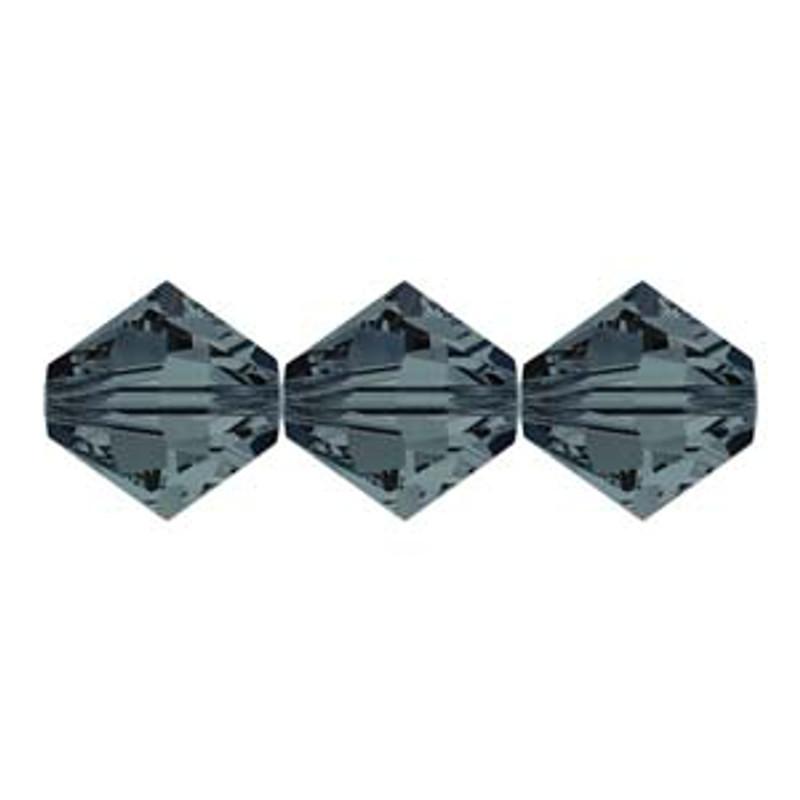 3mm Swarovski Bicones, Graphite (Qty: 50)