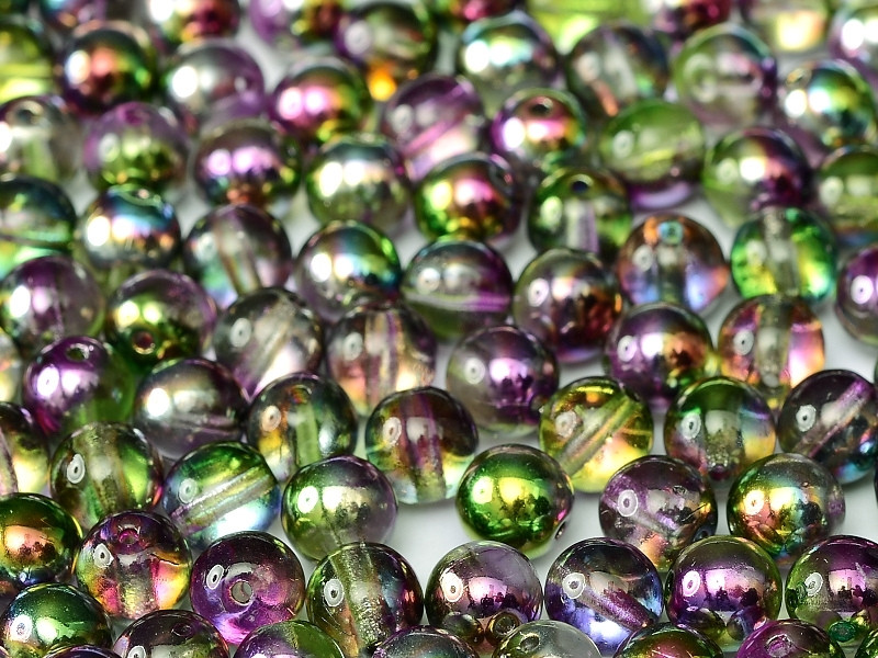 4mm Round Glass Beads, Magic Orchid (Qty: 50)