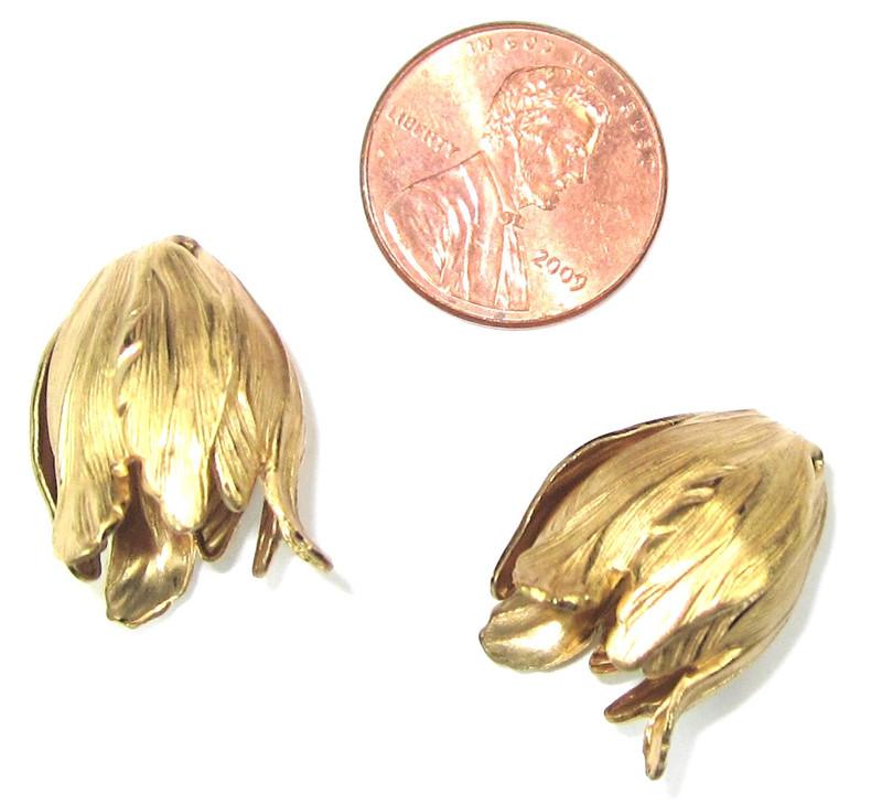 Tulip End Cap, Raw Brass (E003) (Qty: 2)