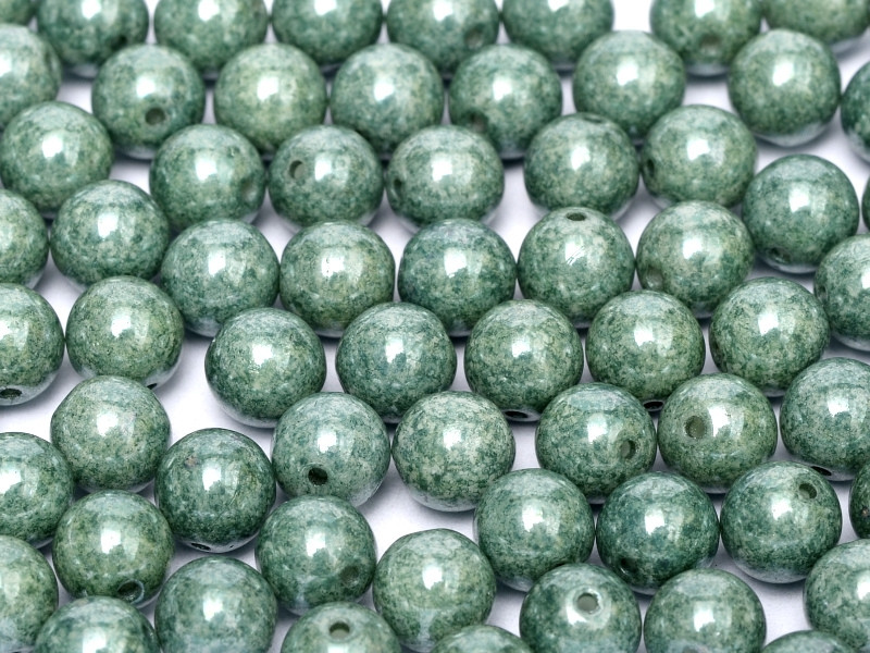 4mm Round Glass Beads, Teal Luster (Qty: 50)
